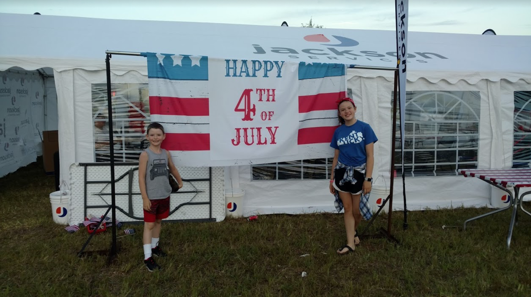 Jackson Services tent at fourth of July fireworks