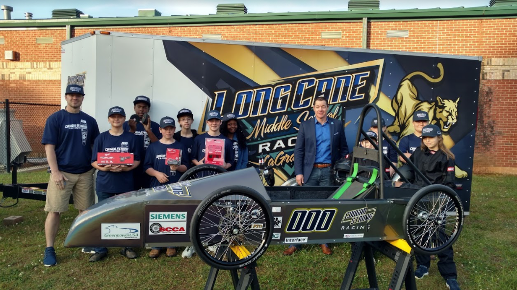 Jackson Services shows their support for the students on the Long Cane racing team
