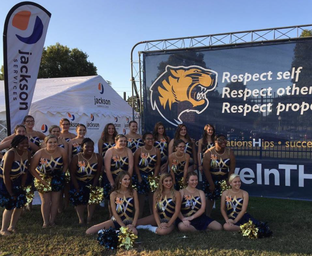 Jackson Services provides their community tent for football games at Callaway Stadium