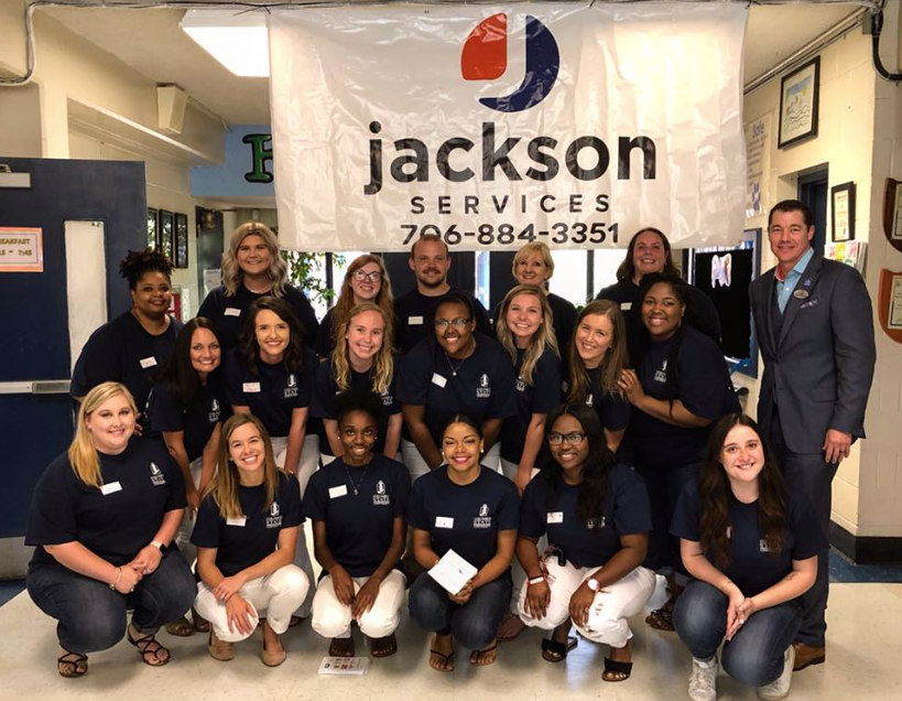 Jackson Services shows their support for the Be The One project for teachers in Columbus