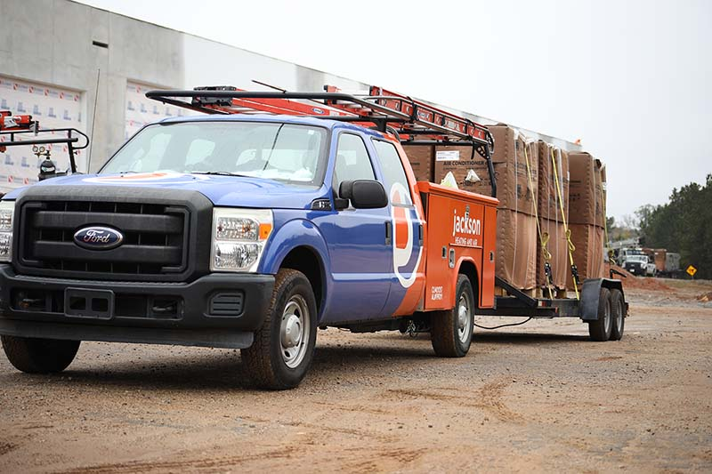 Jackson Services Mechanical HVAC truck carrying units